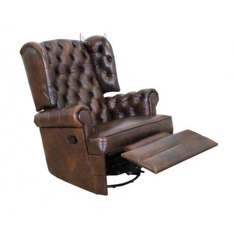Pikowany fotel z funkcją relax - Królewski