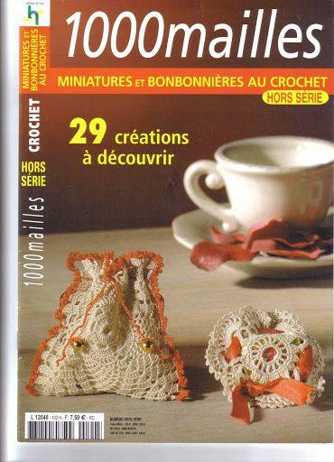 Miniatures et bonbonnieres au crochet - Evelyne Dubos - Picasa Web Albums... FREE BOOK AND DIAGRAMS!