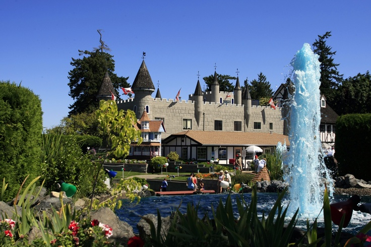 Paradise Mini Golf in Parksville, on the island.
