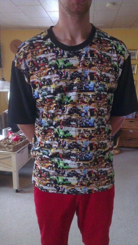 T-shirt med tractor puller str. Brormand
