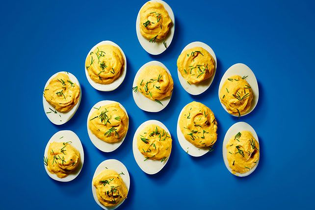 Make Easy Deviled Eggs for your party or potluck! Dijon mustard puts the devil in these Easy Deviled Eggs, and they're softened with MIRACLE WHIP Dressing.