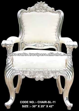 Royal Silver Carved furniture King Throne Chair (Silver Wedding Furniture from Rajasthan)