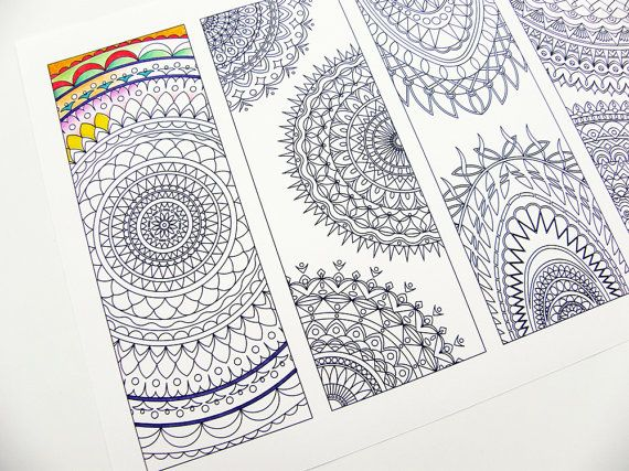 Tribal Bookmarks Coloring Page