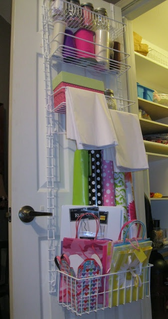 home.made.: Gift Wrap Organizer