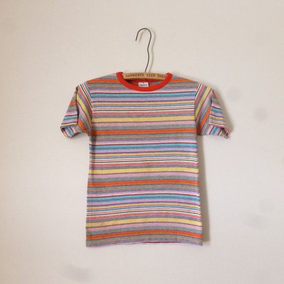 70's Childrens TShirt Vintage 1970's Striped by thatwasagoodyear, $18.00
