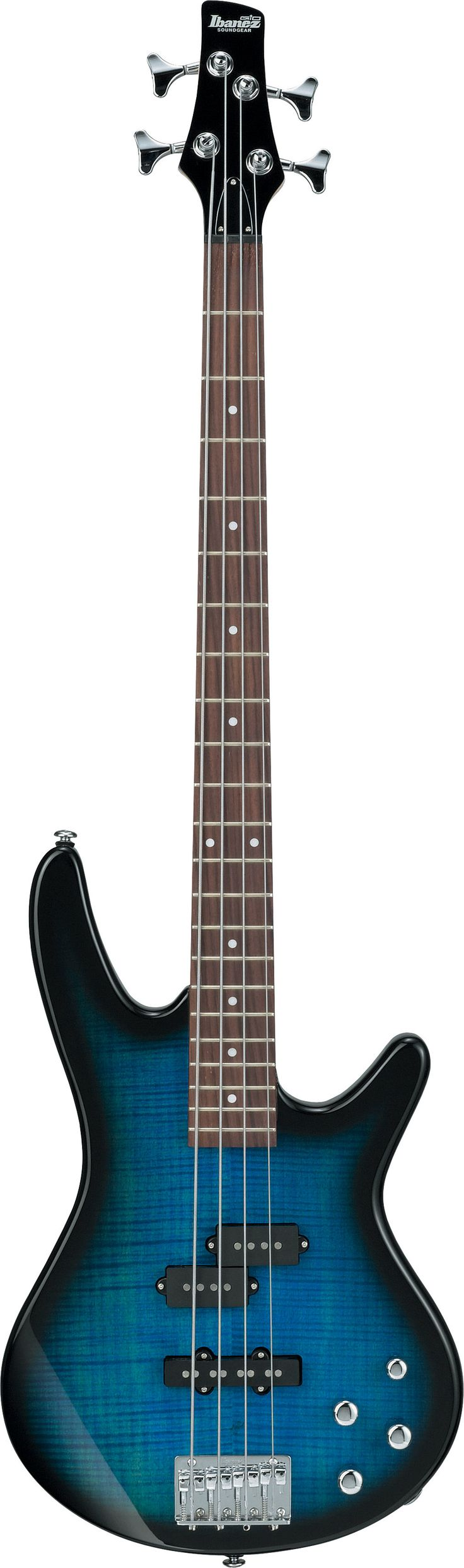 Transparent Blue Burst Ibanez GSR200FM Electric Bass    Again: Pretty.
