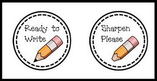 labels for sharp and need sharpening pencils