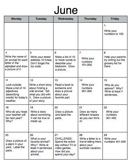 June/July Homework