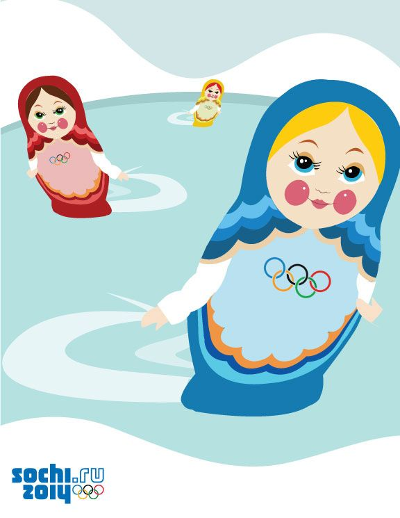 Love these little Sochi 2014 babooshkas.