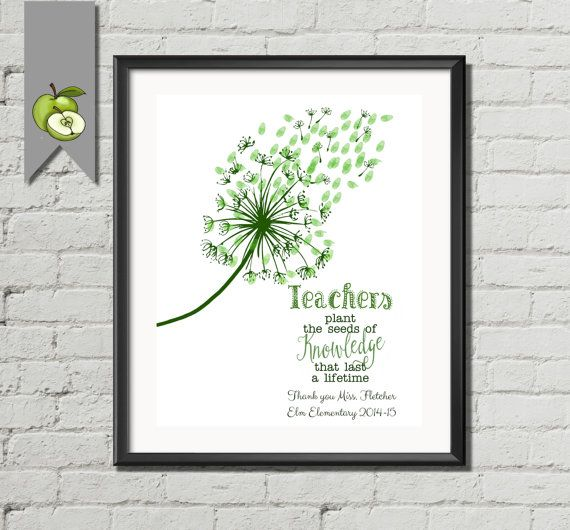 Teacher Appreciation gift teachers gift plant by TheArtyApples