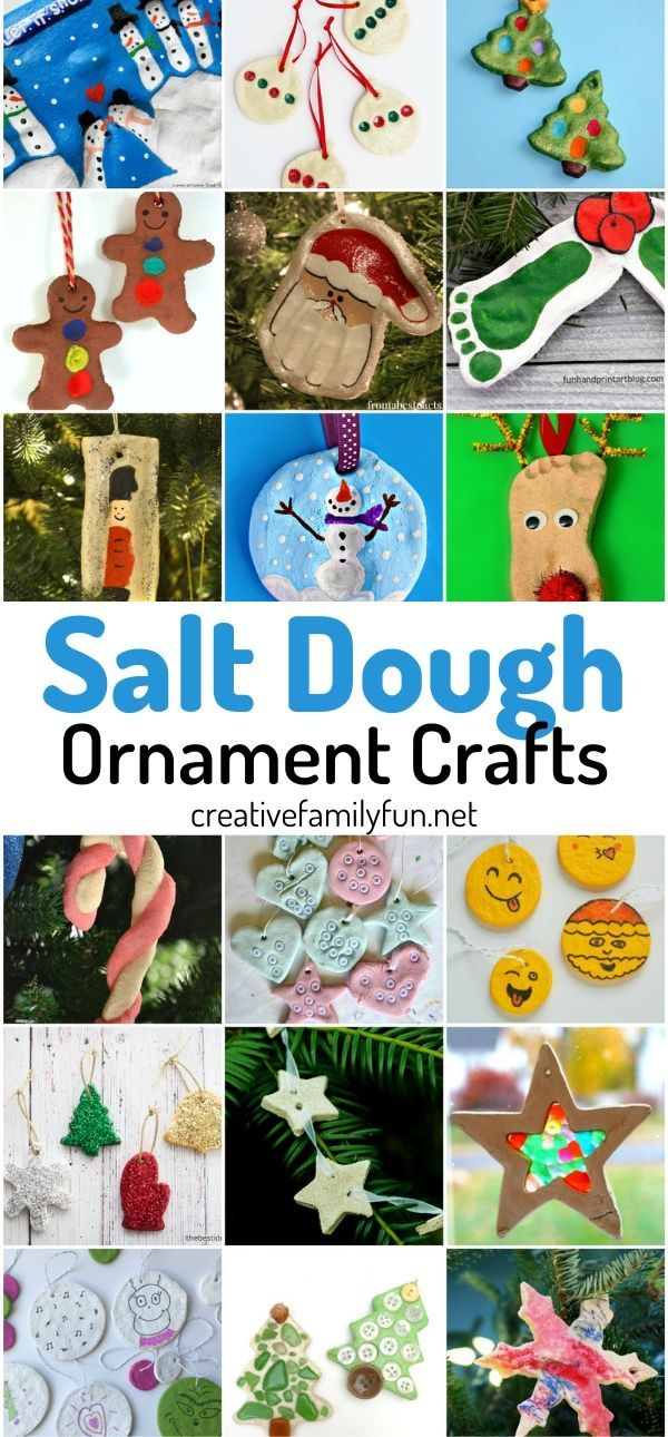 Salt Dough Ornament Crafts for Kids
