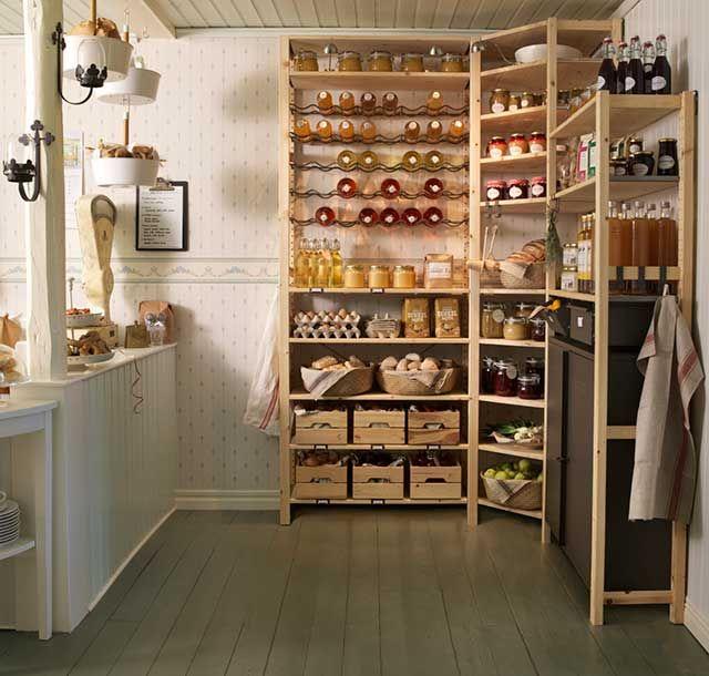 Rangement Ouvert Ivar Dans Une Cuisine Ouverte Rangement Ouvert Cuisine Rangement Ouvert Rangement Cellier
