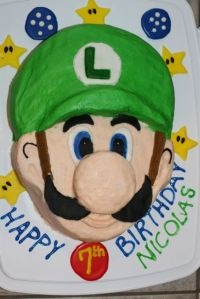 Luigi Cake for Crystal's Next Birthday... I should have it perfected by then!