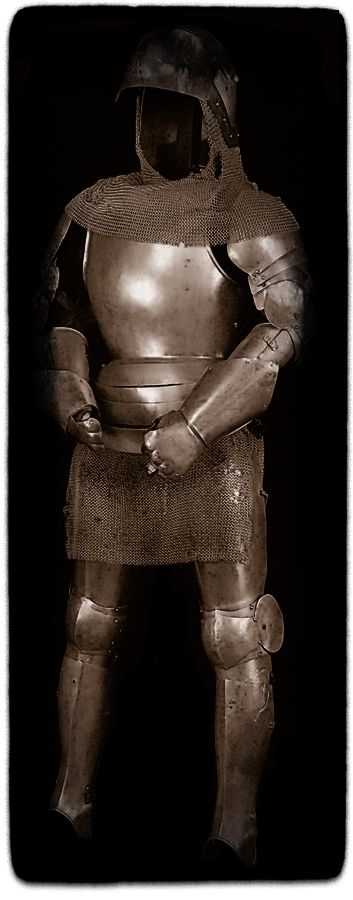 Jeanne's suit of armour remains is unknown, and we may never know exactly what happened to the armor. Her armour may have looked like the Swedish actress Ingrid Bergman's armour worn in the Victor Fleming's 1948 film Joan of Arc sold at auction june 2011 for $50,000.