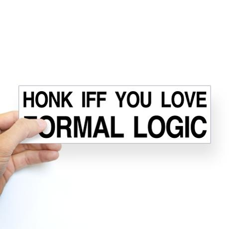 Honk iff you love formal logic #xkcdFormal Logic, Education Android, Bumper Stickers, Honk Iff, Logic Xkcd, Android App