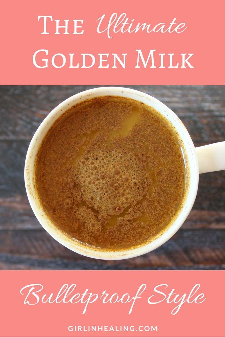 Golden Milk, Turmeric, Dairy Free, Anti-inflammatory, Bulletproof, Grass-fed Butter