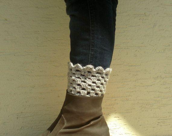 Crochet boot cuffs boot socks boot  toppers by KnitterPrincess, $16.50