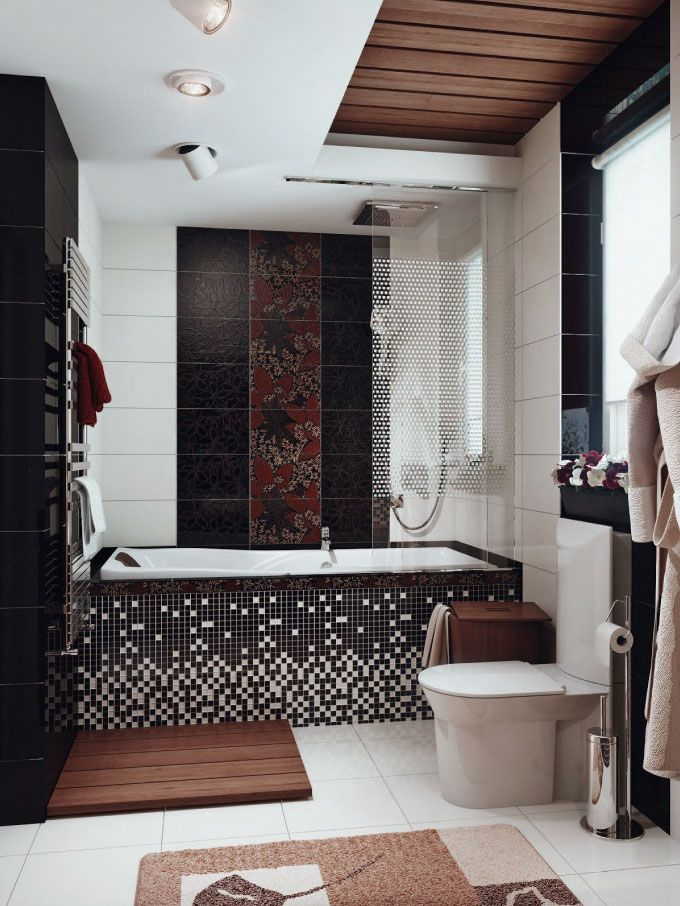 best 11 stylish black and white bathrooms collection stylish black and white themed bathroom design with mosaic tiles bathtub frame and wh