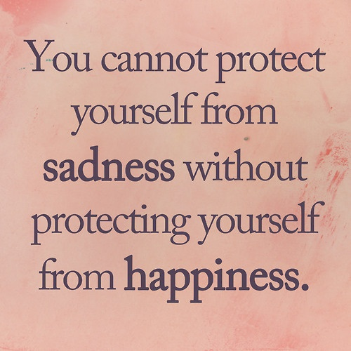 Quotes About Sadness And Happiness: Extremely Loud And Incredibly Close: You Cannot Protect
