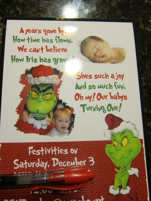 ROBYN'S DEN: How the Grinch Stole Christmas Birthday Party!