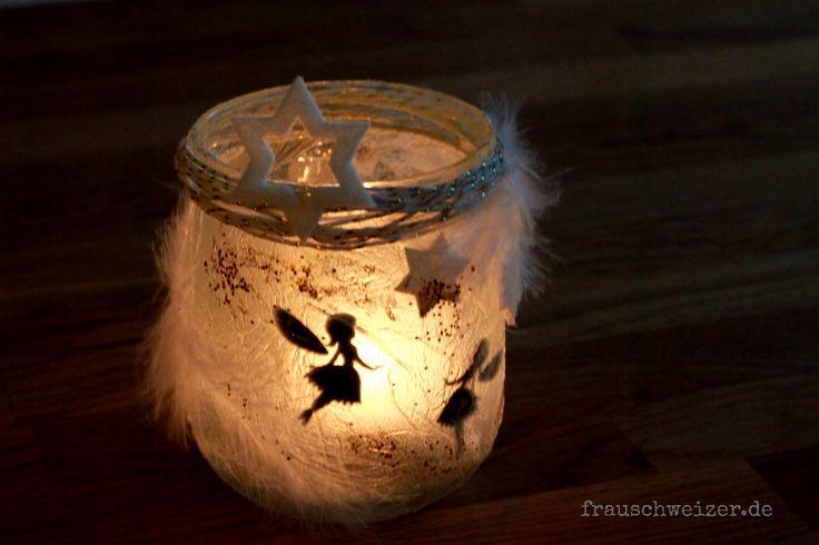 eine einfache Anleitung für ein stimmungsvolles Windlicht- Fee im Glas. Geht wirklich einfach!