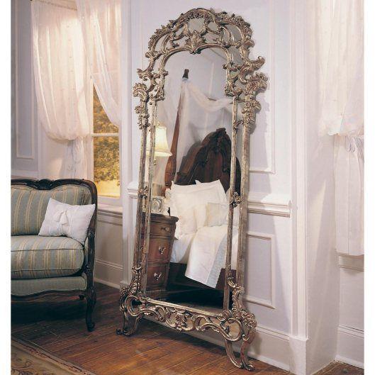 Inspira o do dia espelhos apoiados no ch o floor for Big full length mirror