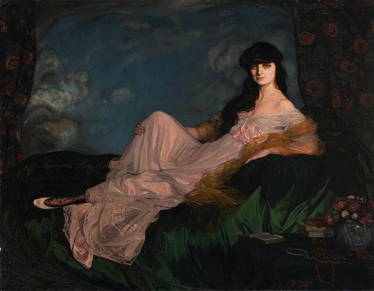 Ignacio Zuloaga, Retrato de la condesa Mathieu de Noailles. 1913. Oli sobre tela. Bilbao: Museo de Bellas Artes.