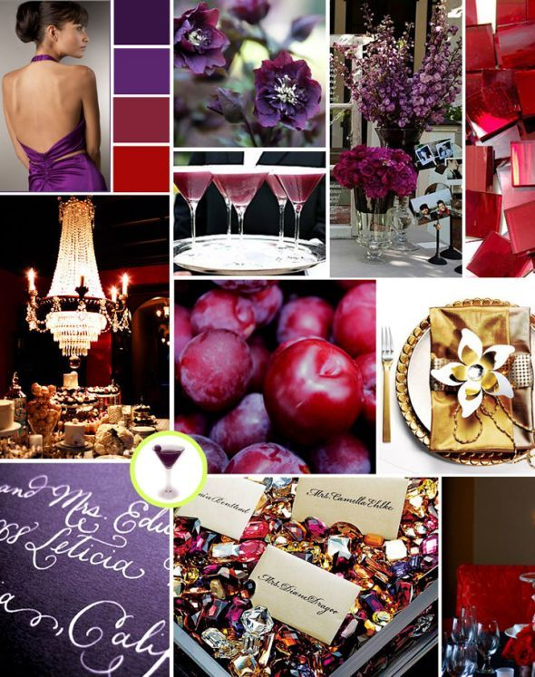 Purple and red  inspiration board I found. Testing it as a possible color scheme.