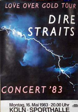 Dire Straits Concert Poster https://www.facebook.com/FromTheWaybackMachine