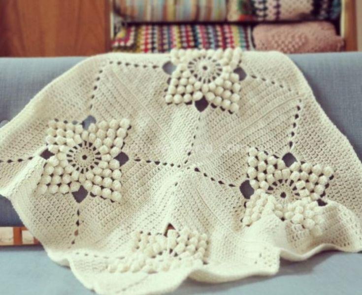 beyaz tığ işi bebek örgü battaniye modelleri 2016