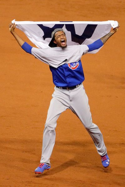 Carl Edwards Jr. #6 of the Chicago Cubs celebrates after defeating the Cleveland Indians 8-7 in Game Seven of the 2016 World Series at Progressive Field on November 2, 2016 in Cleveland, Ohio. The Cubs win their first World Series in 108 years.