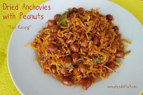 Fried anchovies with peanuts (teri kacang)