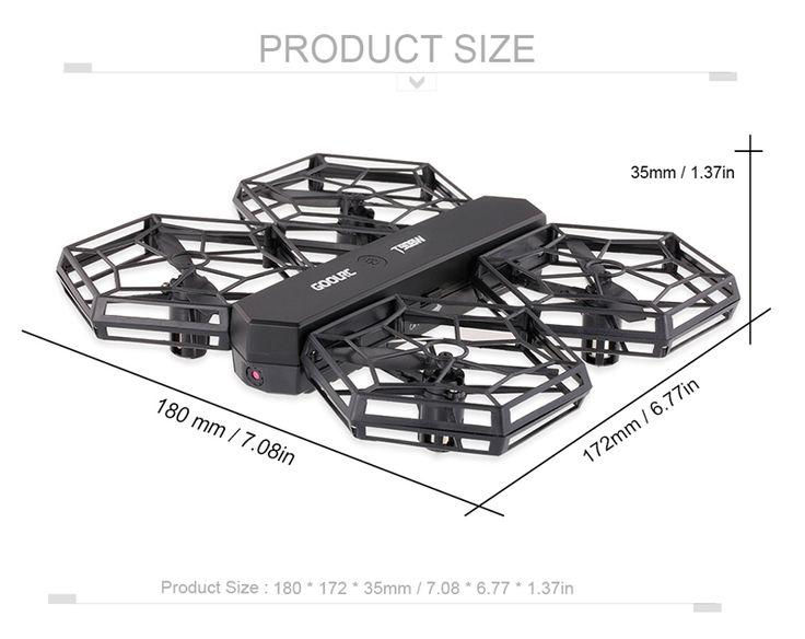 GoolRC T908W 0.3MP Camera Wifi FPV DIY Detachable Drone Sales Online black - Tomtop.com  #toys #aiplanes #quadcopters #drones