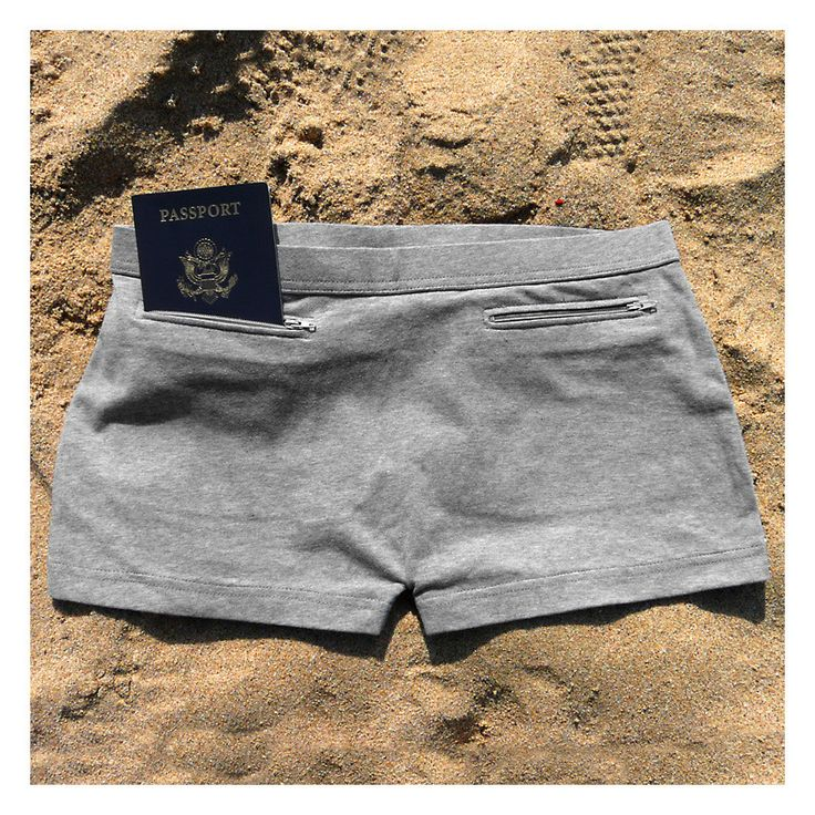 Women's boy shorts with secret pockets to hide cash, credit cards on your travels from www.clevertravelcompanion.com