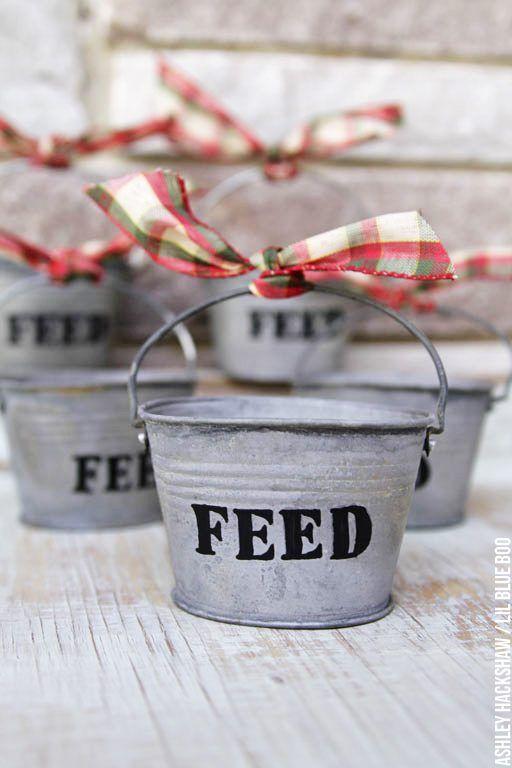 Christmas ornaments to make - Homemade Christmas ornaments - Farm Theme
