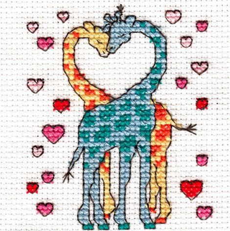 Happiness is... Being in Love Cross Stitch Kit | sewandso