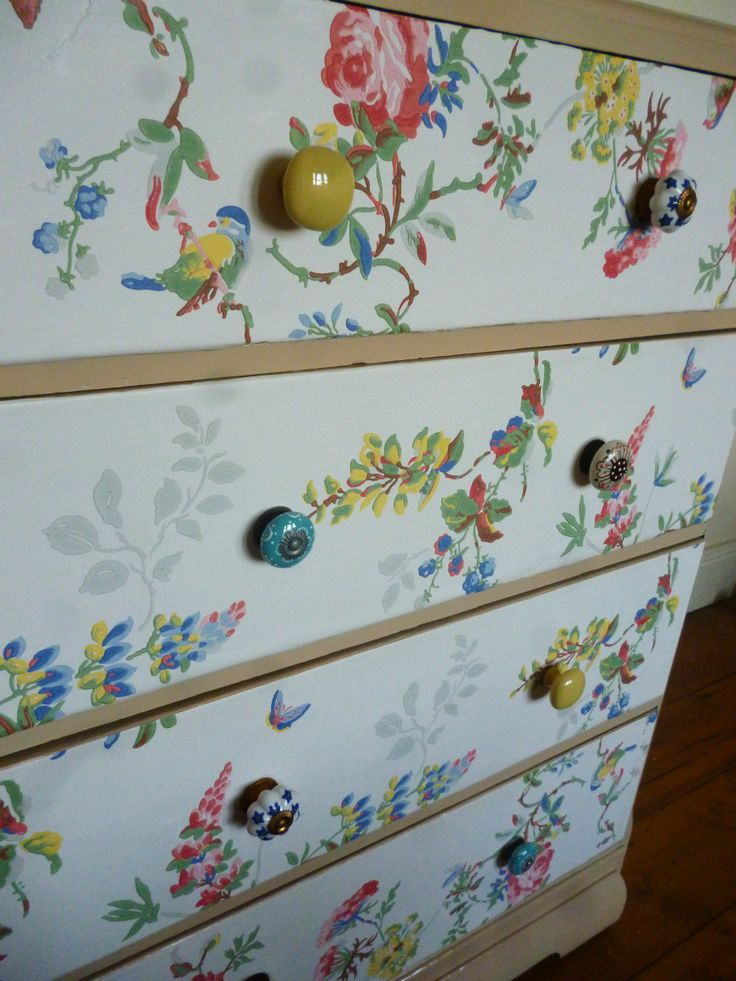 Wallpaper drawers  Cath Kidston Anthropologie