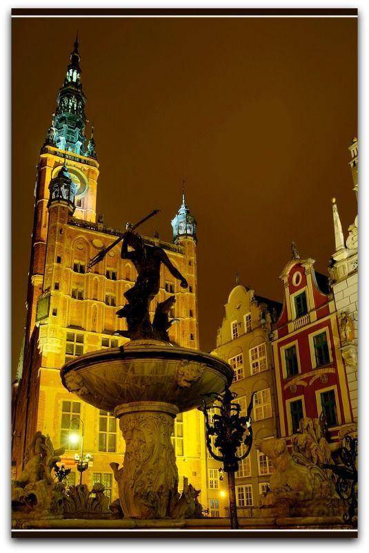 Neptune Fountain - Long Market, Gdansk, Poland