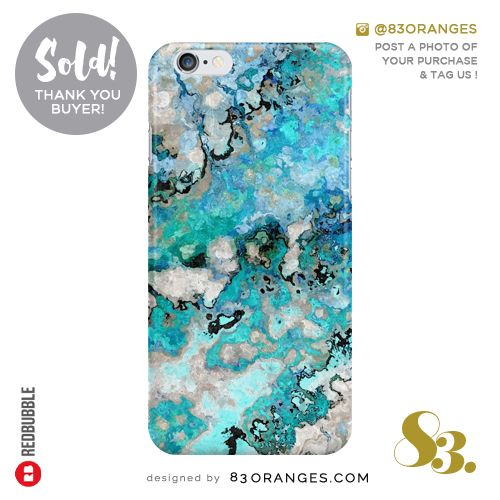 'Marble Art V7' iPhone Case  Sold! #redbubble #tech #iphone6s