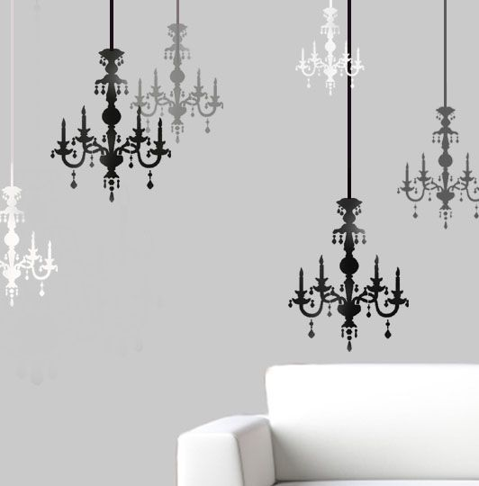 Chandelier Wall Décor Stencil Here At Ideal Stencils We Reusable Home Decor