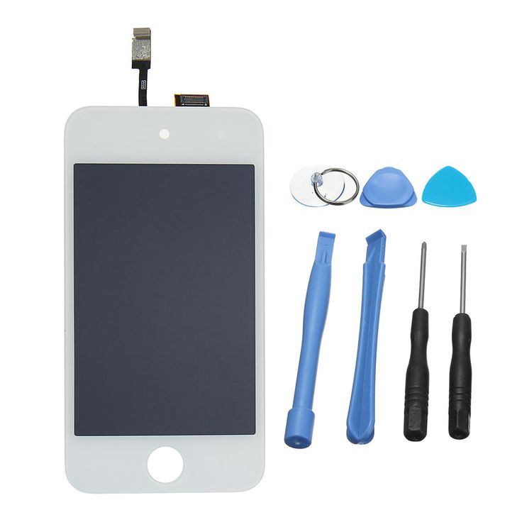 Replacement Tools Black & White LCD Touch Internal Screen Assembly for iPod …