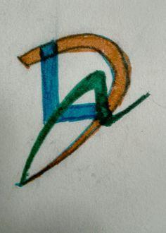Logo David León -  Bocetos (Identidad Visual - David León Diseñador Gráfico)