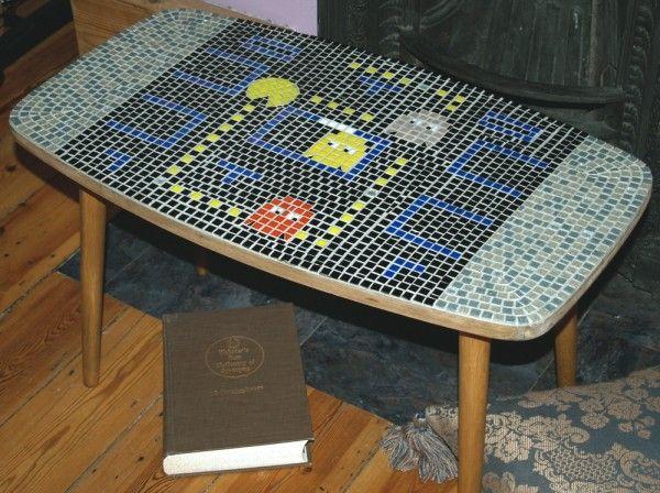 pacman mosaic table!