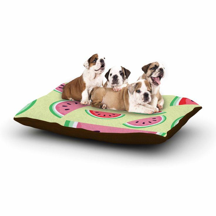 """afe images """"Watermelon Background"""" Pink Food Dog Bed"""