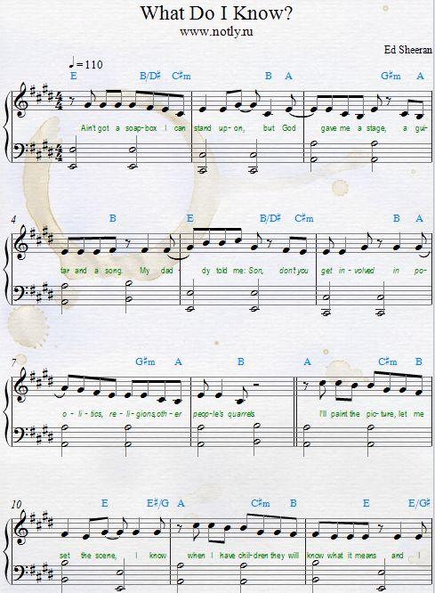 522 best partitions de musique piano images on pinterest music piano sheet music and music sheets - Ed sheeran dive chords ...
