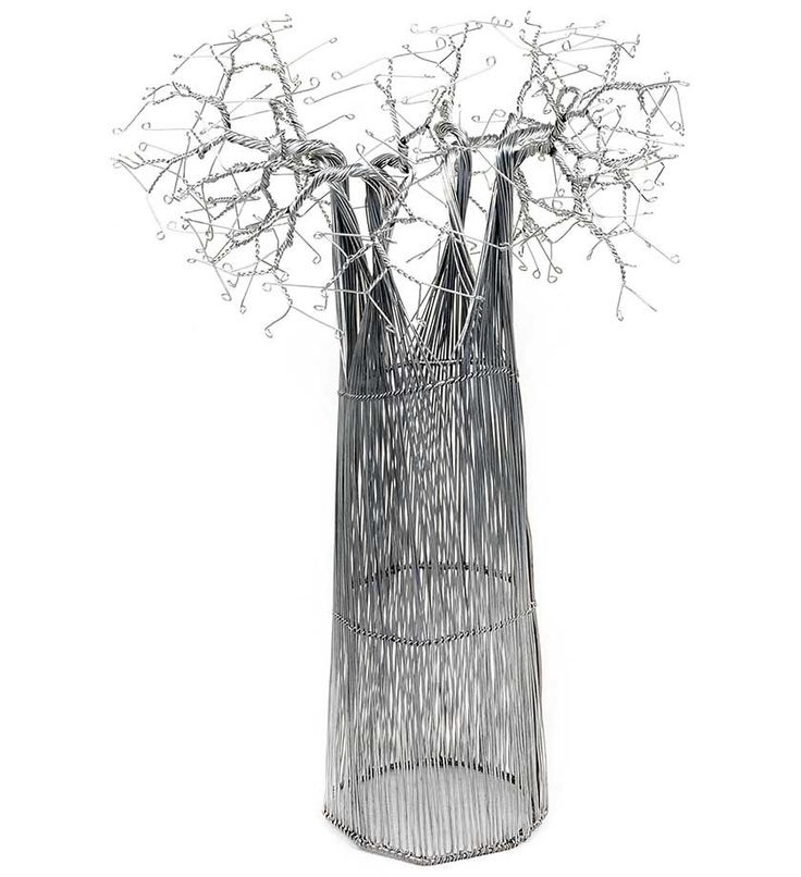 Recycled Wire Baobab Tree - Art & Sculpture Handmade in Africa - Swahili Modern - 4