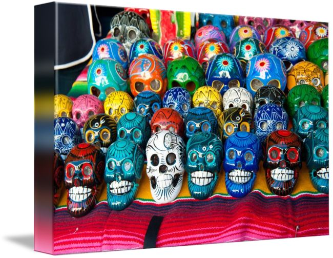 """Hand+made+and+painted+skulls+for+sale+at+the+Santa""+by+Eyal+Nahmias,+Santa+Barbara+,+CA+//+Hand+made+and+painted+skulls+for+sale+at+the+Santa+Barbara+Fiesta,+'old+Spanish+Days'+//+Imagekind.com+--+Buy+stunning+fine+art+prints,+framed+prints+and+canvas+prints+directly+from+independent+working+artists+and+photographers."