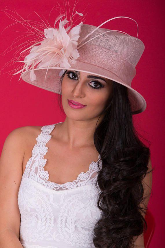 Pâle chapeau de mariage rose  Royal Ascot chapeau  Kentucky