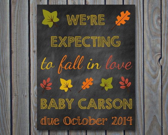 Custom Printable Chalkboard Pregnancy Announcement Pregnancy Reveal on Etsy, $5.00
