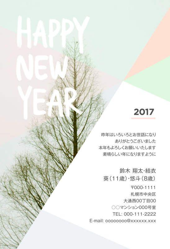 今年のイチオシ新作デザイン 年賀状なら年賀家族2017 <公式>サイト